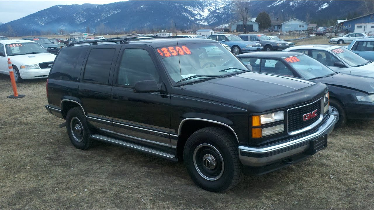 1998 gmc yukon 4x4 350 v8 auto for sale montana black. Black Bedroom Furniture Sets. Home Design Ideas