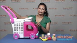 Fisher-Price Little Mommy Ride n Drive Shopping Cart from Tollytots