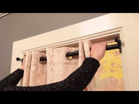 Twist & Fit - The No Tools Curtain Rod Solution