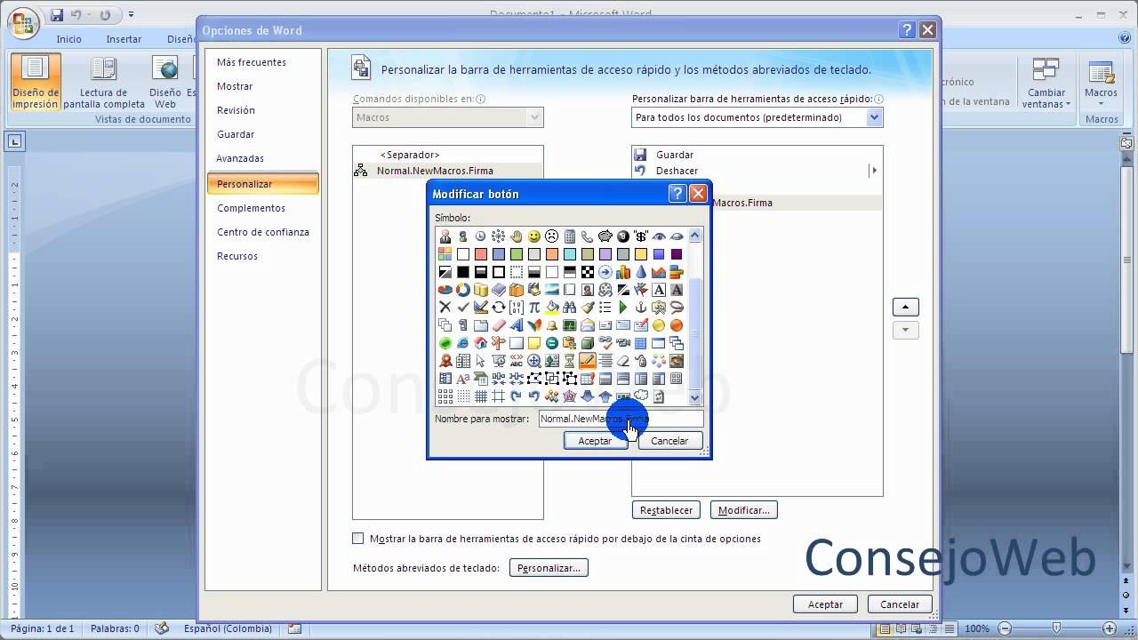 Word 2007 2010 Como Hacer Una Macro En Word Youtube