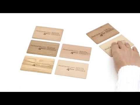 Exklusive Visitenkarten Aus Holz Bei Printcarrier Com