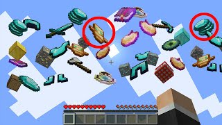 Beating Minecraft but with RANDOM loot falling from the sky...