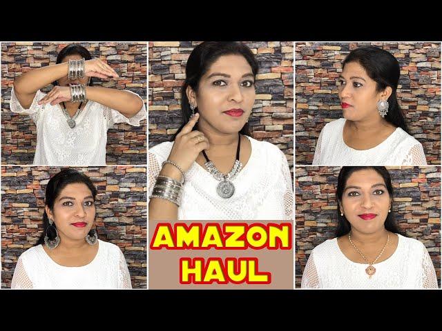 Beautiful Oxidized Jewellery & Beauty Products Haul/Amazon Haul /Online Shopping Review #prititrendz