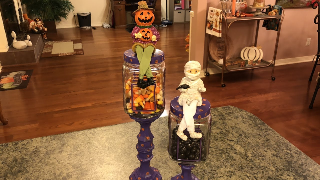 Dollar Tree Diy Halloween Candy Jars Youtube