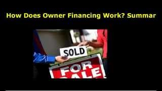 How Does Owner Financing Work?