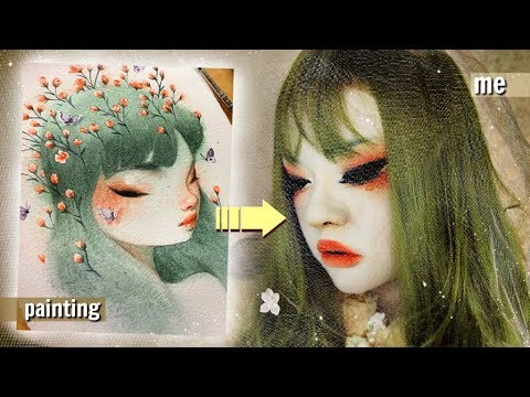 TURNING MYSELF INTO A BAO PHAM PAINTING! (makeup only)