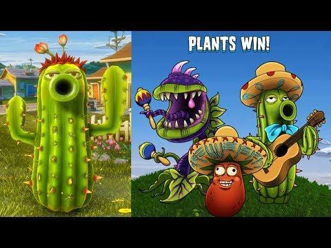 Растения против Зомби 2 Садовая Война - ОБЗОР ПРОСТОГО КАКТУСА [Cactus] 9 из 10