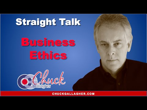 Business Ethics Keynote Speaker - Chuck Gallagher - shares ...