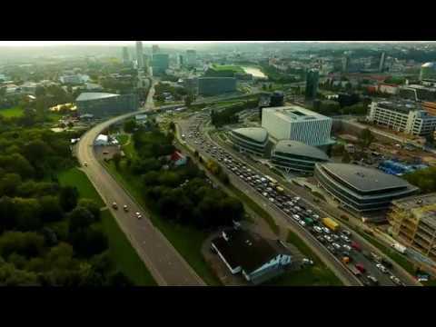 Drone Hyperlapse 4K   Vilnius