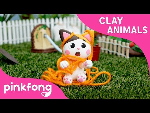 How to make a Kitty with Clay | Clay Animals | DIY | Animal Songs | Pinkfong Clay Time