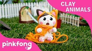 كيفية جعل كيتي مع الطين | الطين الحيوانات | DIY | الحيوان الأغاني | Pinkfong الطين الوقت