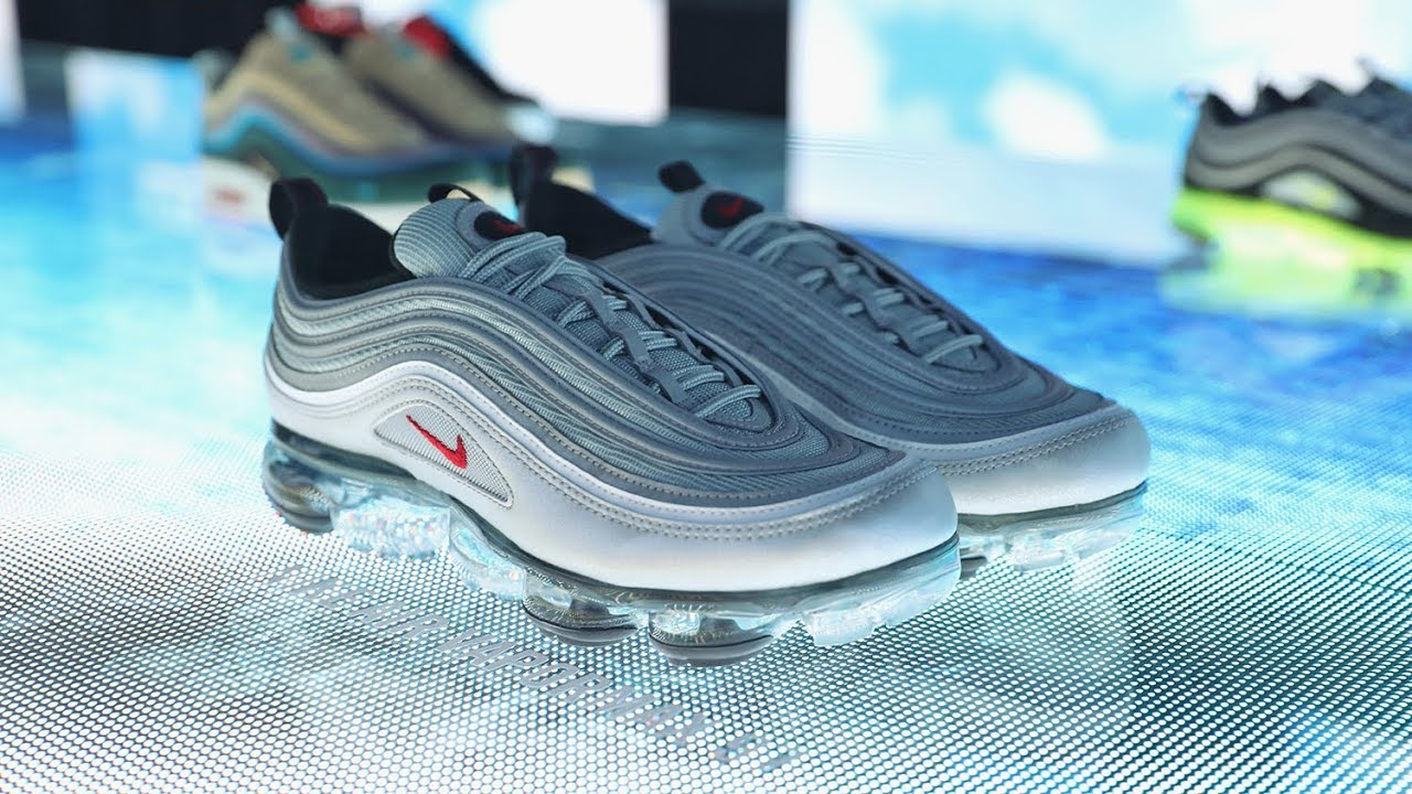 "7698722821 Kicksvision | Nike VaporMax 97""Silver Bullet""Limited Pack Unbox Video"