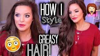 How I Style My 2nd/3rd Day GREASY Hair! | Casey Holmes