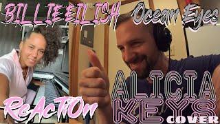 Alicia Keys - Ocean Eyes - Billie Eilish Cover - ROCK MUSICIAN REACTION