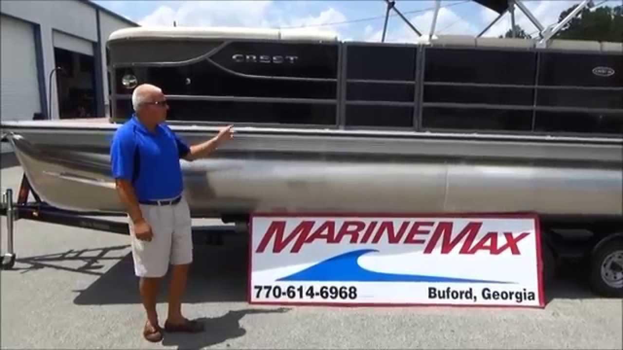 2014 Crest III 230SL Pontoon w/ 115 Four Stroke Mercury Walkthrough For  Sale at MarineMax Buford