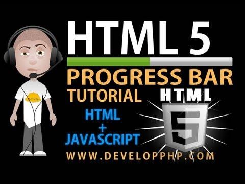 HTML 5 Tutorial Progress Bar For Progressive Javascript Events Processing  or File Upload