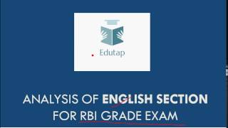 analysis of english for rbi grade b 2017 phase 1