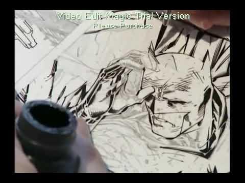 Scott Williams inking a HUSH page
