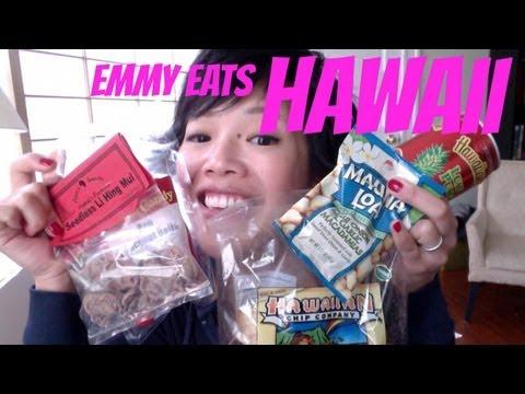 Emmy Eats Hawaii - tasting Hawaiian snacks & sweets