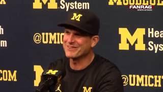getlinkyoutube.com-Michigan Football Postgame: Background and Name of 11-Man Single Line Formation