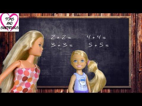 видео: Мультфильм Барби для девочек Видео с куклами Барби и Челси Школа