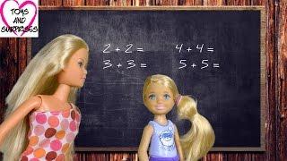 Мультфильм Барби для девочек Видео с куклами Барби и Челси Школа