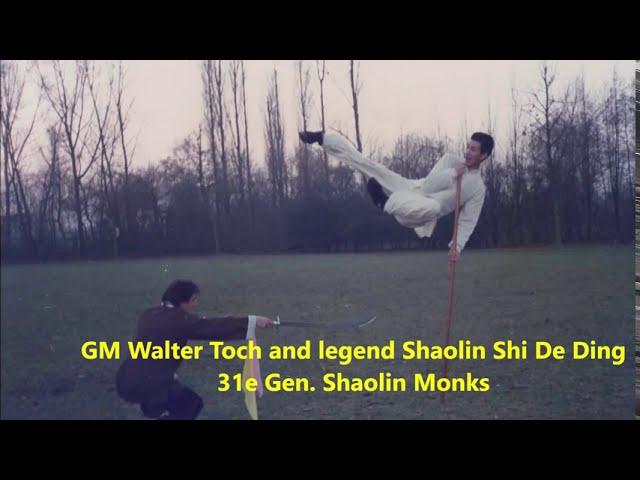 GM Walter Toch with legend Shaolin Shi De Ding 31e Gen.