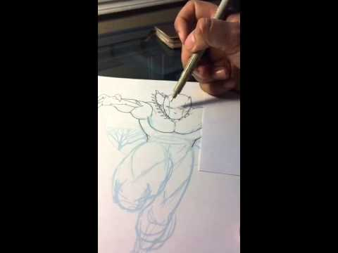 Periscope: 072015 Commission - Inking Black Panther