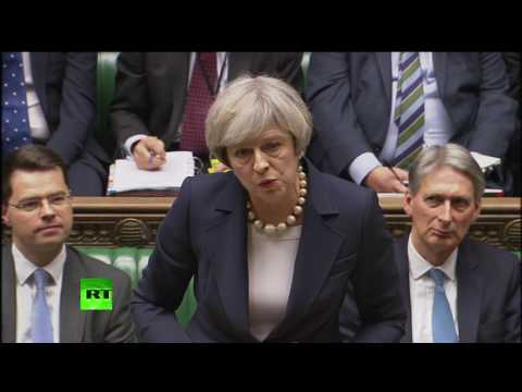 Corbyn and May debate Trump & NHS at #PMQs FULL