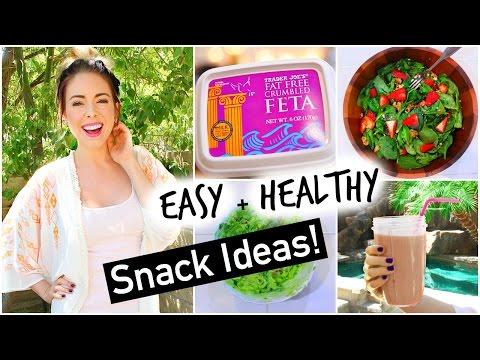 Easy + Healthy Snack Ideas!
