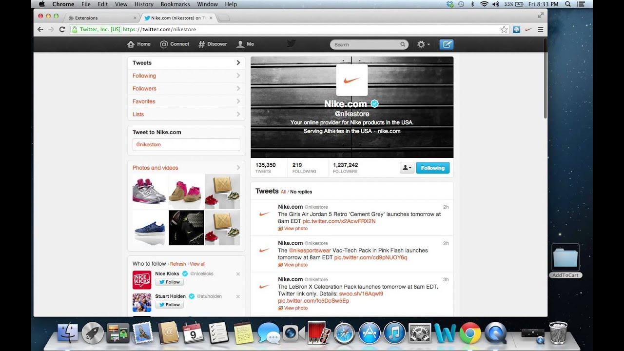 Nike.com Twitter Bot (UPDATED 8.9.13)