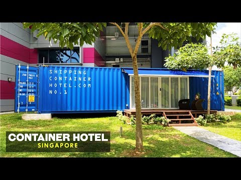 Shipping Container Hotel Off-grid Living in Singapore