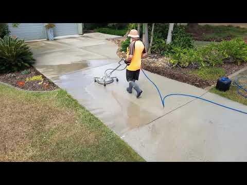 Concrete Driveway Cleaning - Brisbane, Australia