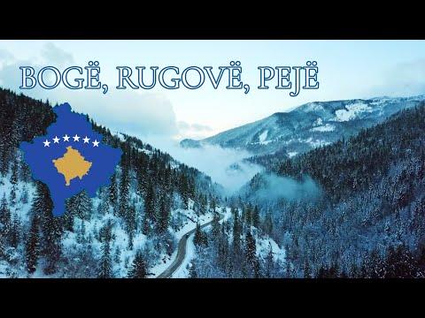 Drone movie of Bogë, Rugovë, Pejë at Kosovo & Montenegro border.