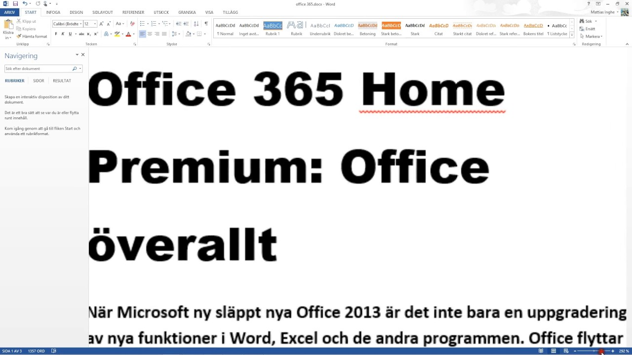 Office 365 Home Premium, Office överallt - YouTube