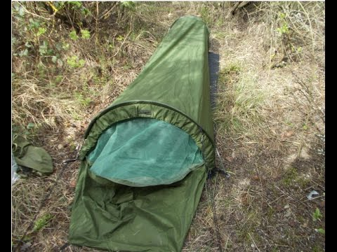 Survival Aids Gortex bivi tent/shelter + brew & Survival Aids Gortex bivi tent/shelter + brew - YouTube
