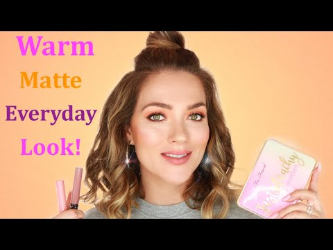 FALL MATTE MAKEUP TUTORIAL   EVERYDAY LOOK   GET READY WITH ME   Makeup for Beginners   Rita Almusa