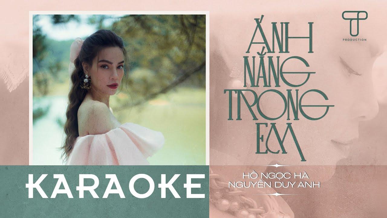 Karaoke | Ánh Nắng Trong Em | Hồ Ngọc Hà x Nguyễn Duy Anh (Beat full)