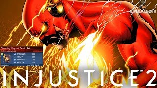 "Legendary Flash Insane 1000 Damage Combo? - Injustice 2 ""The Flash"" Legendary Gear Gameplay"