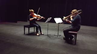 Flay for trombone and viola