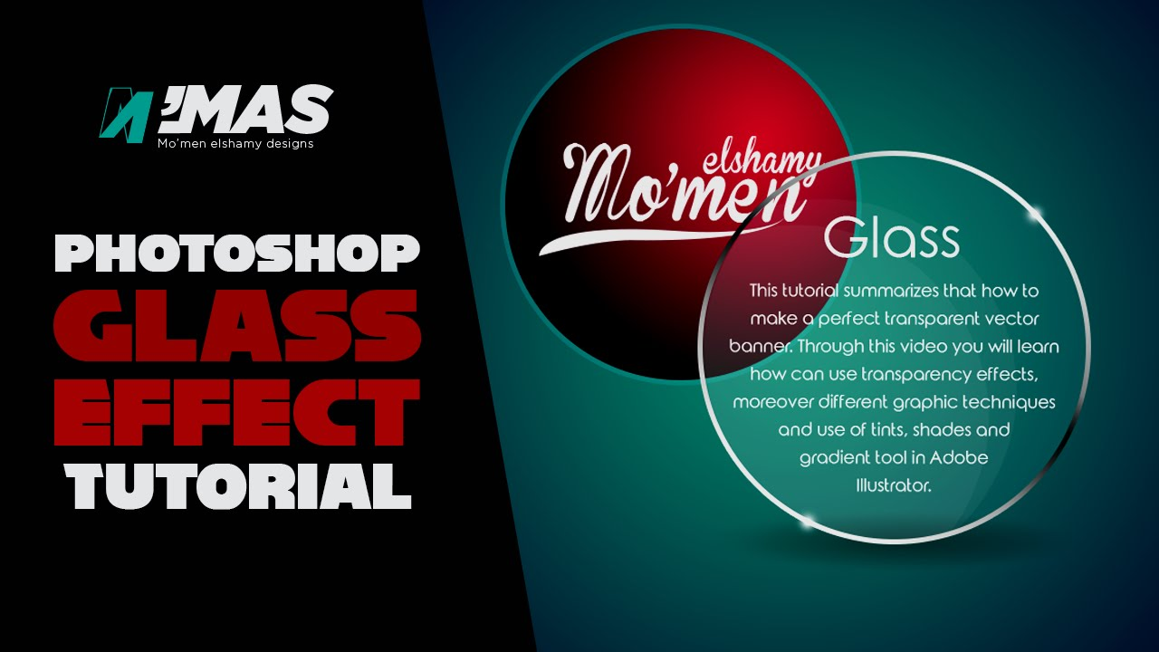 Photoshop tutorial | 3d text broken glass effect photoshop cc.
