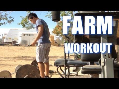Mini Farm Workout (Cleans & Squats)