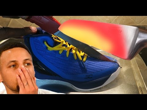 Thumbnail: 1000 Degree GLOWING Knife Experiment Vs Stephen Curry Shoes