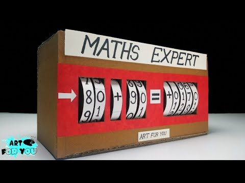 Maths Project From Cardboard | Maths working model for school exhibition | Maths exhibition ideas