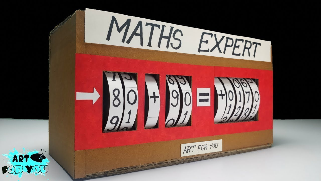 Maths Project From Cardboard