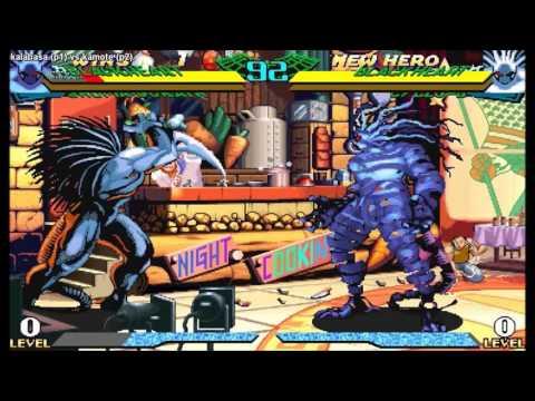 『マーヴル・スーパーヒーローズ VS. ストリートファイター』  -  kalabasa [P1] vs kamote [P2]