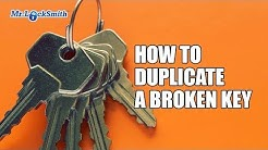 How to Duplicate a Broken Key | Mr. Locksmith Video