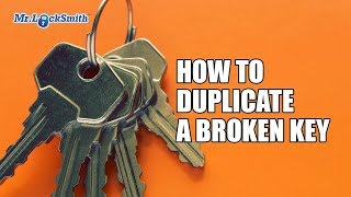 How to Duplicate a Broken Key Video by Mr. Locksmith