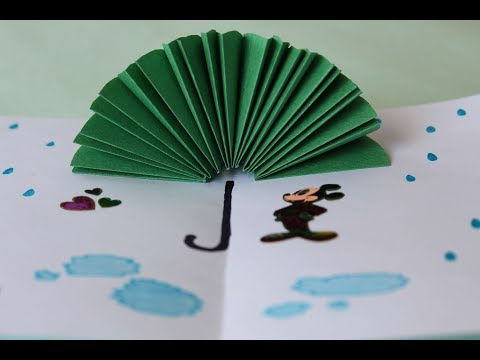 DIY Paper Crafts for Kids | How to Make 3D Umbrella for Kids + Tutorial