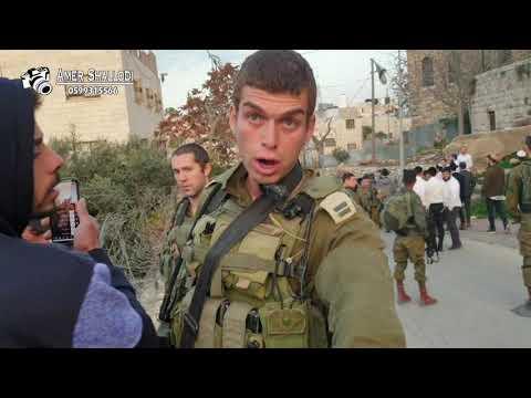 صور اعتداء المستوطنين على سكان تل ارميدة في الخليل وعلى منزل عوني ابو شمسية